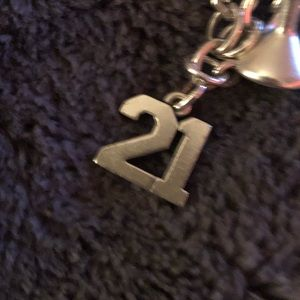 James Avery Sterling Silver 21 Charm
